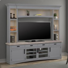 AMERICANA MODERN - DOVE 92 in. TV Console with Hutch with LED Lights