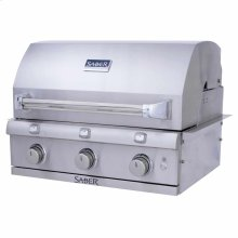 Stainless Steel 3-Burner Built-In Gas Grill