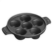 "Staub Cast Iron 5.75"" Escargot Dish, Black Matte"