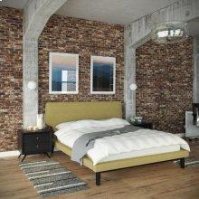 Bethany 3 Piece Queen Bedroom Set in Black Green