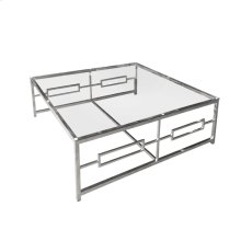 Stainless Steel /glass Cocktail Table, Silver Kd