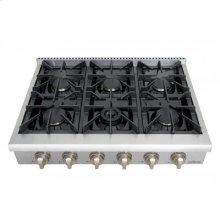 Professional 36 Inch 6 Burner Rangetop In Stainless Steel