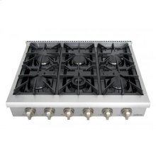 Professional 36 Inch 6 Burner Rangetop In Stainless Steel