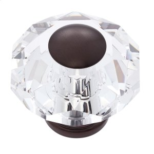 Old World Bronze 60 mm 8-Sided Crystal Knob Product Image