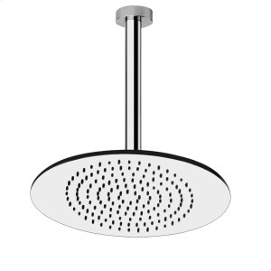 """Ceiling-mounted shower head 1/2"""" connections Projection from ceiling 10-1/8"""" Max flow rate 2 Product Image"""