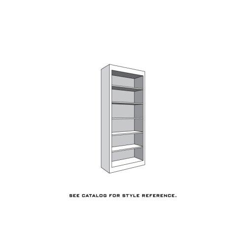 """Prairie Mission Bookcase Unit, 5 Adjustable Shelves, 18""""w"""
