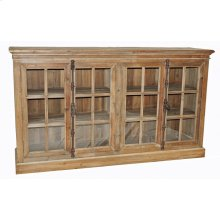 Reclaimed Pine 4-Door Cabinet