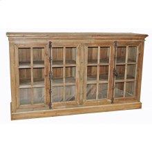 Reclaimed Pine 4-Door Cabinet