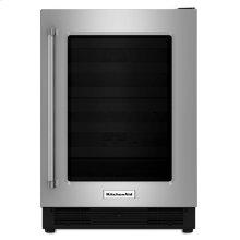 "24"" Undercounter Refrigerator with Glass Door - Stainless Steel"