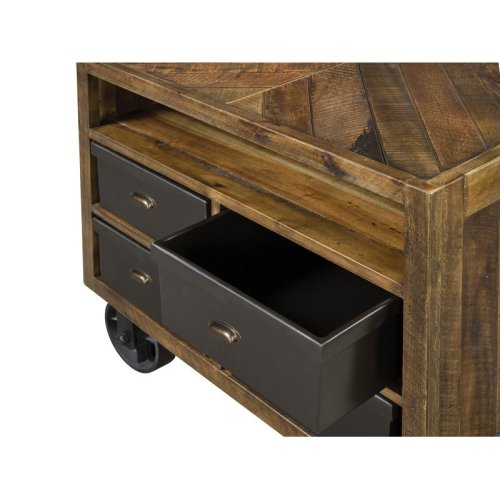 Drawer Nightstand (w/Casters)