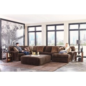 JACKSON 4376-62-30-76 3-Piece Mammoth Chocolate Sectional Sofa with Chaise
