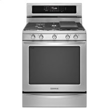 30'' 5-Burner Gas with Griddle Freestanding Range, Architect® Series II - Stainless Steel