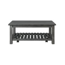 Barn Door Collection Coffee Table, Grey
