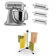 Exclusive Artisan® Series Stand Mixer & Pasta Attachments Set - Silver Metallic