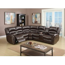F6744 / Cat.19.p51- 3PCS RECLINING SECTIONAL BROWN