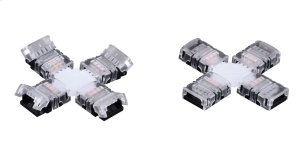 """Instalux® Tape Light """"X"""" 4-Way Snap Connector Product Image"""