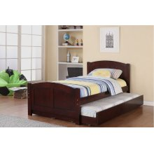 F9217 / Cat.19.p99- TWIN BED W/TRUNDLE D.CHERRY