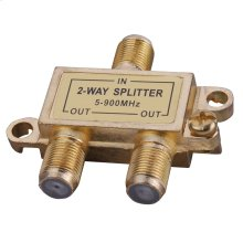 2-Way Signal Splitter with Built-In Grounding Block