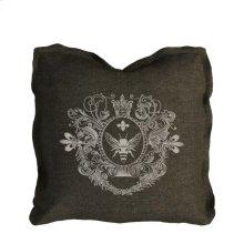 Logo Pillow Brown Linen