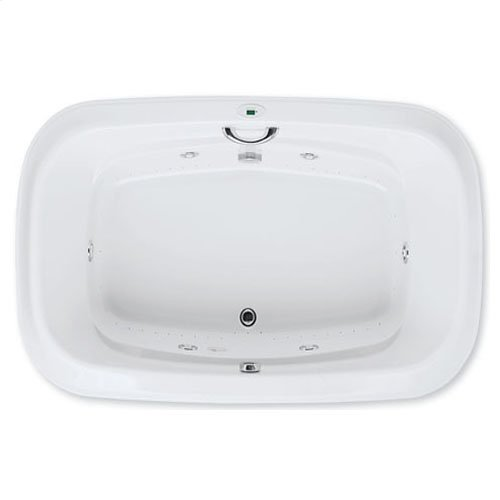 "Easy-Clean High Gloss Acrylic Surface, Oval, AirMasseur® - Whirlpool Bathtub, Signature Package, 48"" X 72"""