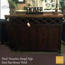 * Travertine Buffet Cabinet 1236 A