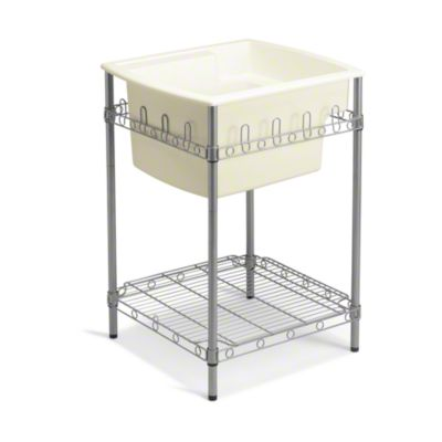 """Latitude® Utility Sink with Stand, 25"""" x 22"""" x 36"""" (Basin Depth is 12"""") - KOHLER Biscuit"""
