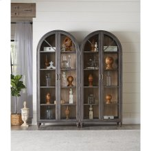 Madison - Display Cabinet - Caramel/graphite Finish