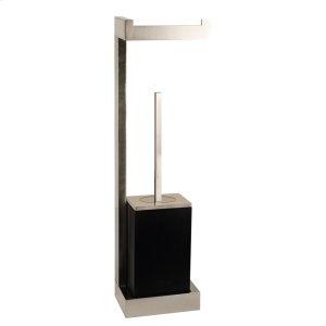 Wall mounted tissue holder w/black brush holder Product Image