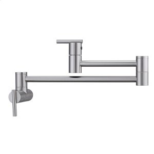 Dori Dual Handle Wall Mount Pot Filler - Brushed Nickel Product Image