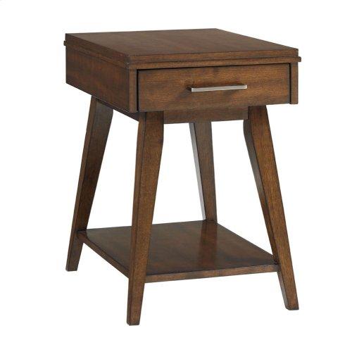 Matte Black Chair Side Table