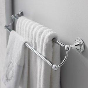 """Belgravia 24"""" Double Towel Bar - Polished Chrome"""