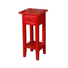 CC-TAB1792LD-RD  Cottage Narrow Side Table  Distressed  Red