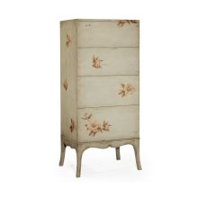 Tall Floral Painted Chest on Stand