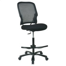 Big Man's Dark Airgrid Back With Black Mesh Seat Double Layer Seat Drafting Chair