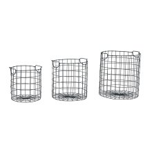 Black Wire Checker Baskets