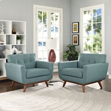 Engage Armchair Wood Set of 2 in Laguna