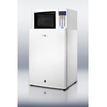 Refrigerator-microwave Combination In White With Auto Defrost Locking All-refrigerator