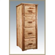 Homestead File Cabinet - Stained and Lacquered