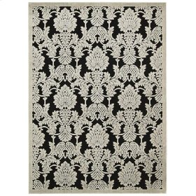 "GRAPHIC ILLUSIONS GIL03 BLK RECTANGLE RUG  Available in Sizes:  2'.3""X 3'.9"",  2'.3""X 8'.0"",  3'.6""X 5'.6"",  5'.3""X 7'.5"",  7'.9""X 10'.10"""