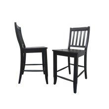"DLU-B20-AB-2  School House 24"" Barstool  Counter Height Stool  Antique Black  Set of 2"