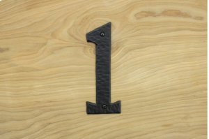"""1 Black 6"""" Mailbox House Number 450150 Product Image"""