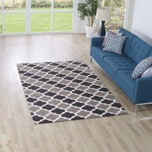 Lida Moroccan Trellis 5x8 Area Rug in Charcoal and Black