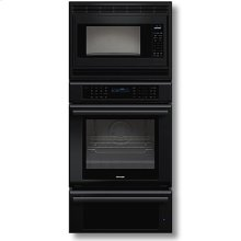 "27"" Masterpiece Series Black Combination Oven with Microwave, True Convection Oven and Warming Drawer"