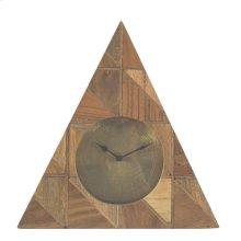 Wood Triangle Table Clock