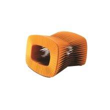 Seat Belt Ottoman, Orange