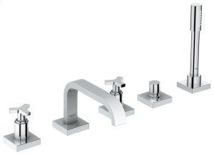 Allure Five-Hole Bathtub Faucet with Handshower Product Image