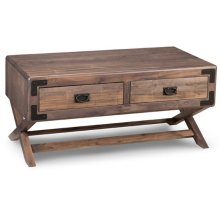 Saratoga Coffee Table X Base Ends w/ 2 Drawers