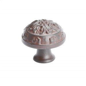 Baroque Bronze Rust Glaze Oak Leaf Knob Product Image