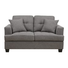 Loveseat W-2-pillows Grey