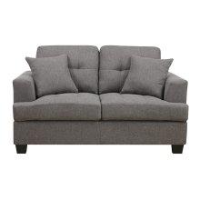 Loveseat W-2-pillows Grey